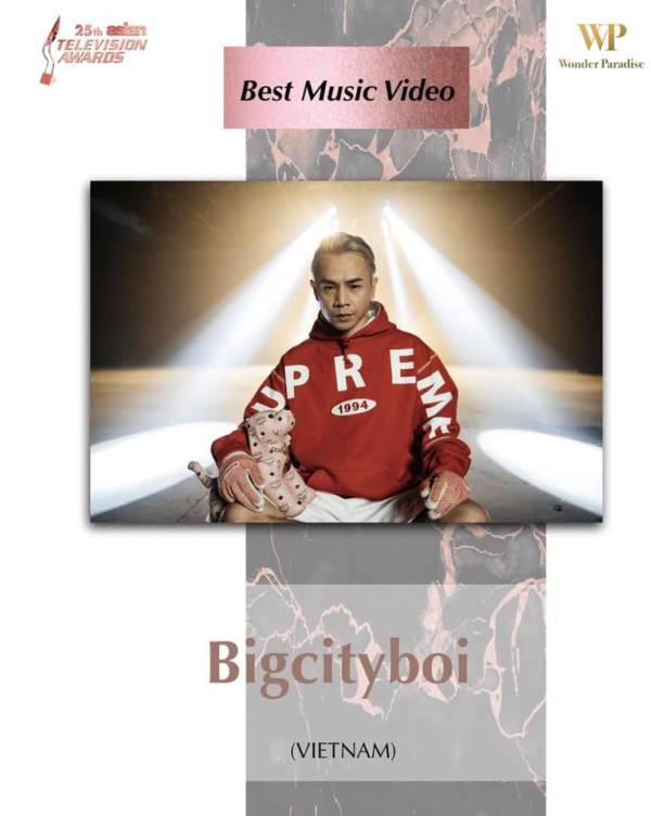 MV Bigcityboi Binz, Jack và Võ Đăng Khoa tranh tài tại Giải thưởng Truyền hình châu Á lần thứ 25